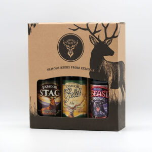 Gift box with three bottles of ale