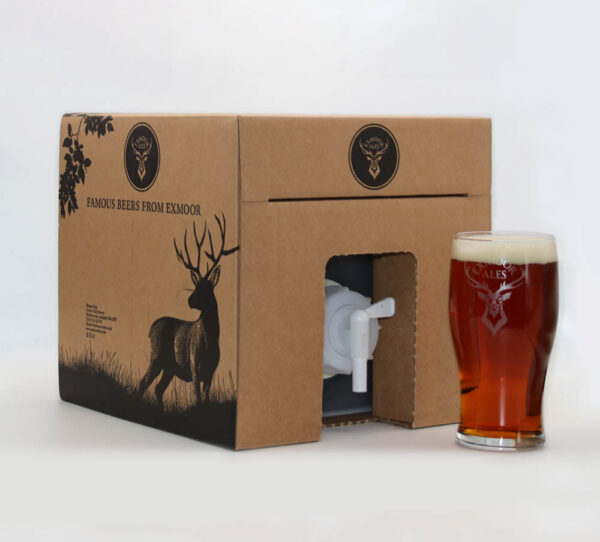 Polypin box and pint of Exmoor Stag ale