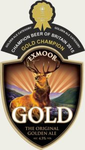 Exmoor Gold Pump Clip with Award