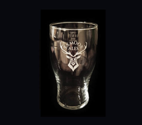 Exmoor Ales Tulip Pint Glass