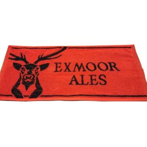 Exmoor Ales Red and Black Bar Towel