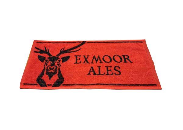 Exmoor Ales Red and Black Bar Towel