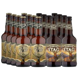 8 bottles of Exmoor Gold Ale and 8 bottles of Exmoor Stag ale