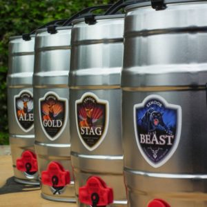 Mini casks of Beast, Stag, Gold and Ale