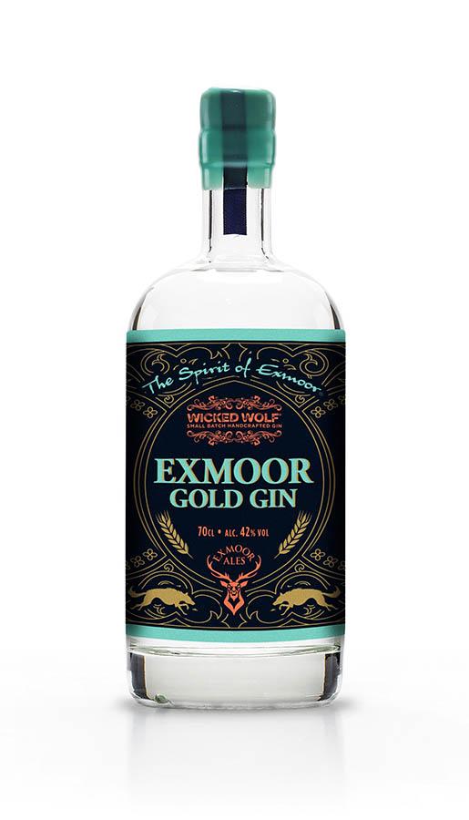 Bottle of Exmoor Gold Gin