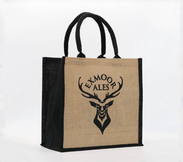 Exmoor Ales jute shopping bag