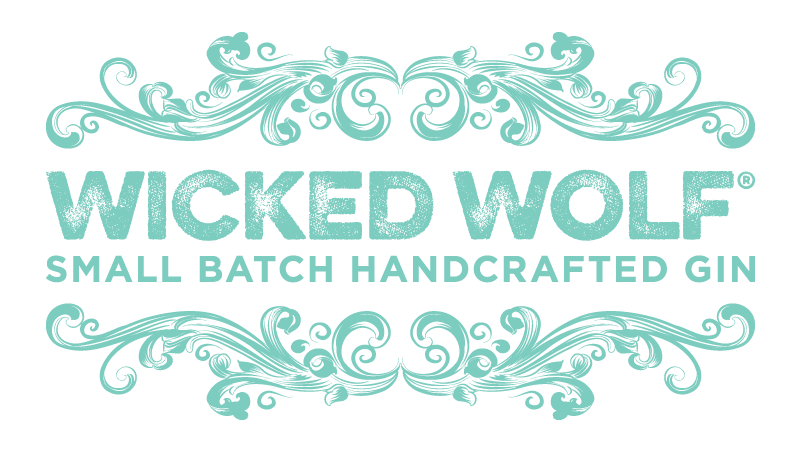Wicked Wolf Gins Logo in turquoise