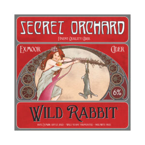 Wild Rabbit cider label from Secret Orchard