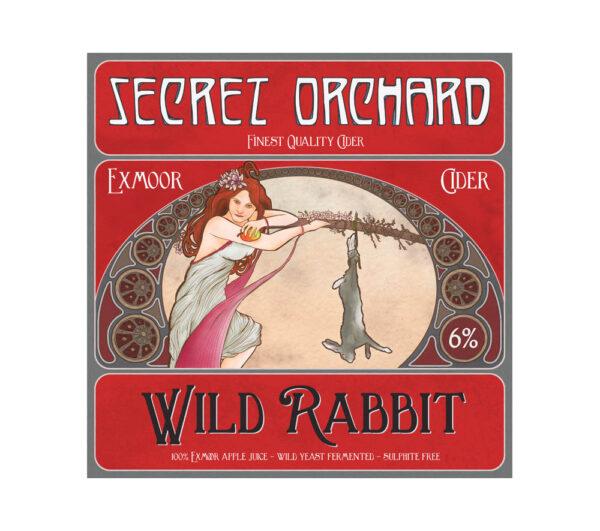 Wild Rabbit cider label from Secret Orchard