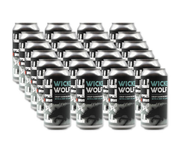24 cans of Wicked Wolf Ale