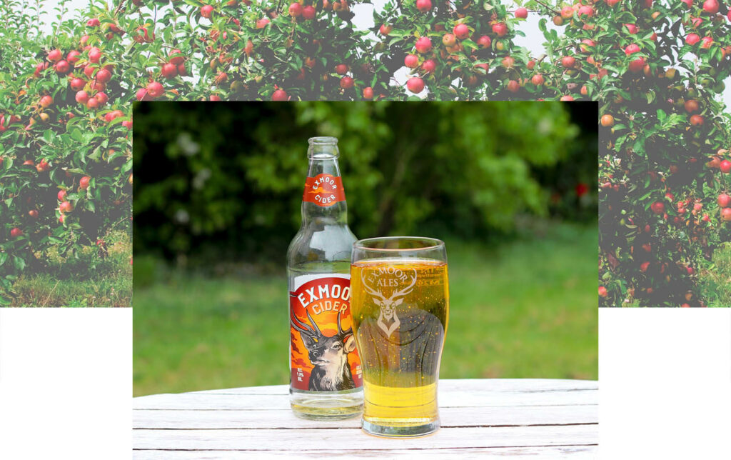 Exmoor cider poured in a glass