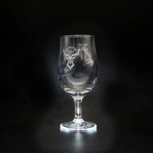 Exmoor Ales stemmed half-pint glass
