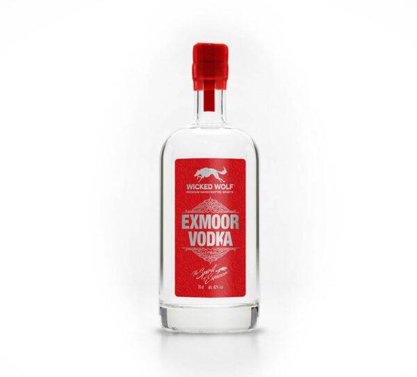 Bottle of Wicked Wolf Vodka